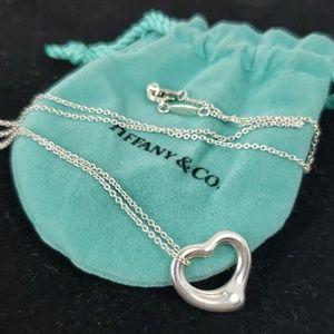 Tiffany & Co Elsa Peretti Open Heart Necklace 16mm
